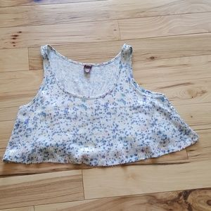 Free People White  Sequin Swing Crop